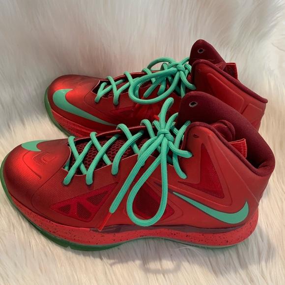 Christmas Sneakers.Sale Nike Lebron 10 Christmas 5 5y Sneakers